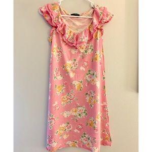 Ralph Lauren Floral Nightgown Pink Ruffles